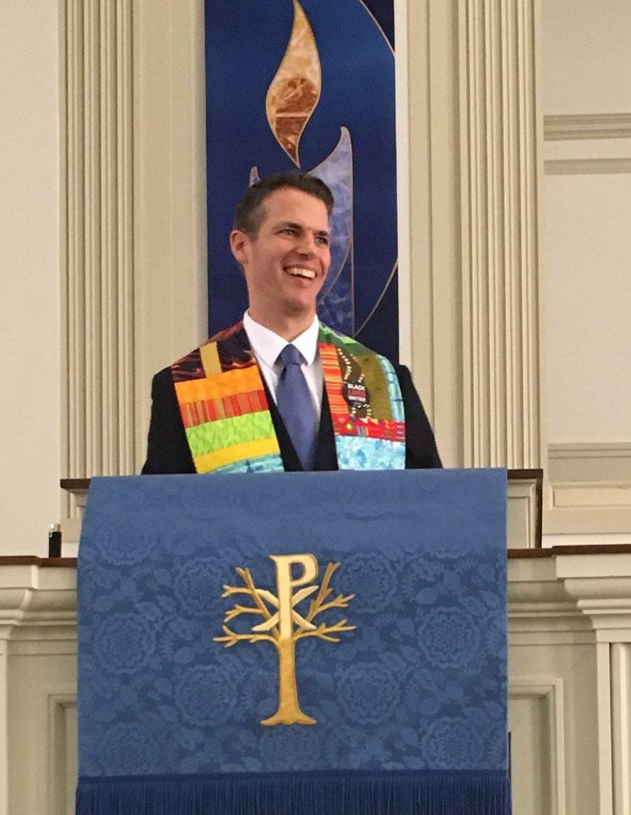 Virginia-Highland Church - Senior Pastor Rev. Matt Laney at the pulpit